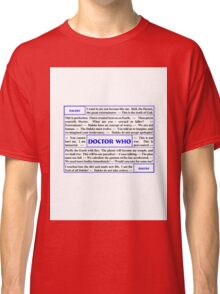 Quotes from Doctor Who - Daleks Classic T-Shirt
