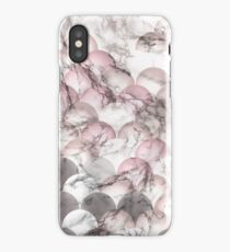 Pink and White Scales with Lightened Marble Effect iPhone Case/Skin