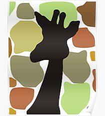 Portrait of a Giraffe Poster