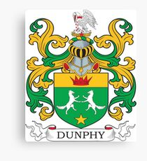 Dunphy Coat of Arms Canvas Print