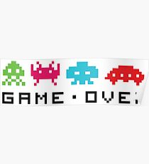Space invaders - Game over Poster