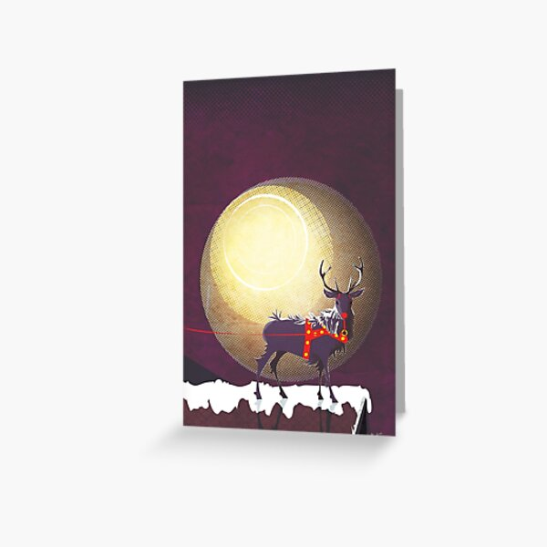 The Christmas Ravenstag Greeting Card