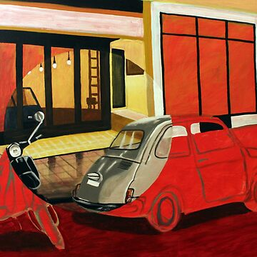 Painting Fiat 500 and Vespa by reujken