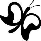Eine Illustration mit einem schwarzen Schmetterling von lathspell