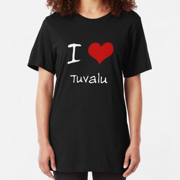 I Love Corazón Tuvalu Camiseta