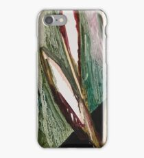 Leafs abstract oil art iPhone Case/Skin