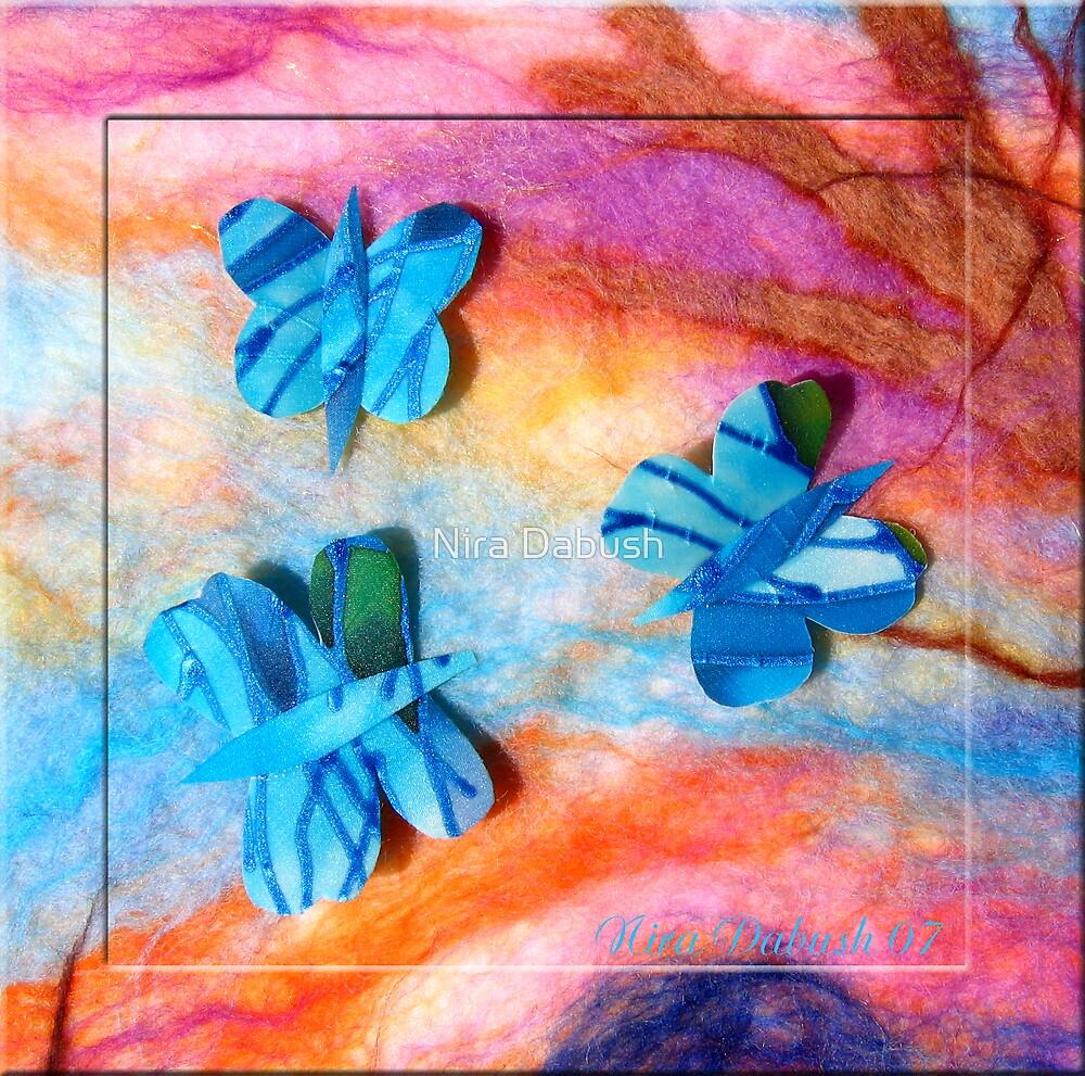 Three Silk Butterflies by Nira Dabush