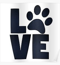 Love Pets Paw Cat Dog Cute Poster