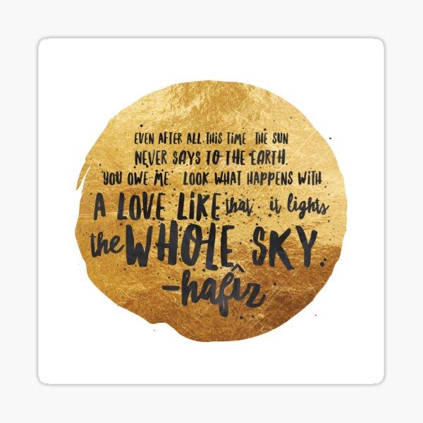 Hafiz Sufi Quote Poem Sticker