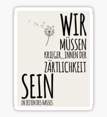 Typography Illustration Krieger Liebe Sticker