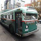 Vintage 1958 Bus, New York Transit System, Herald Square, New York City by lenspiro