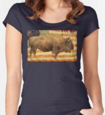 American Buffalo Women's Fitted Scoop T-Shirt