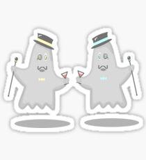 Fancy Ghosts Sticker