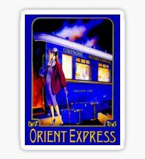 ORIENT EXPRESS: Vintage Train Passenger Travel Print Sticker