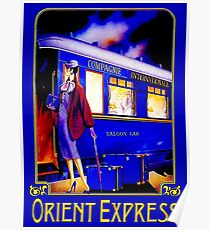 ORIENT EXPRESS: Vintage Train Passenger Travel Print Poster