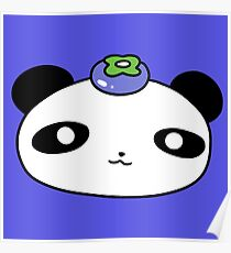 Blueberry Panda Face Poster