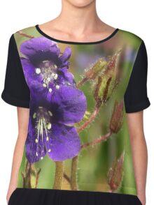 Purple flower Chiffon Top