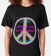 Summer of Love Anniversary by IdeaJones Slim Fit T-Shirt