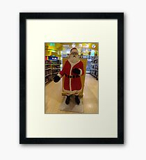 Lego Santa Claus, FAO Schwarz Toystore, New York City Framed Print