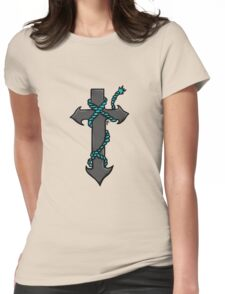anchor rope cross Womens Fitted T-Shirt