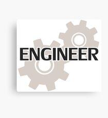 Engineer Clockwork Gears Canvas Print