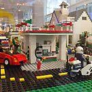 Lego Gas Station, FAO Schwarz Toystore, New York City by lenspiro