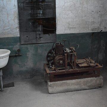 Sink and Motor, Ellis Island by merrywrath