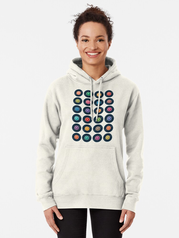Alternate view of Vinyl Record Collection Pullover Hoodie