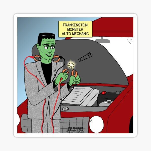 Frankensteins Monster Auto Mechanic Sticker