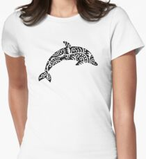 Black dolphin design T-Shirt