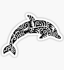Black dolphin design Sticker
