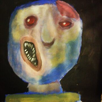 Unshaped face Acrylic Painting by NatLopez