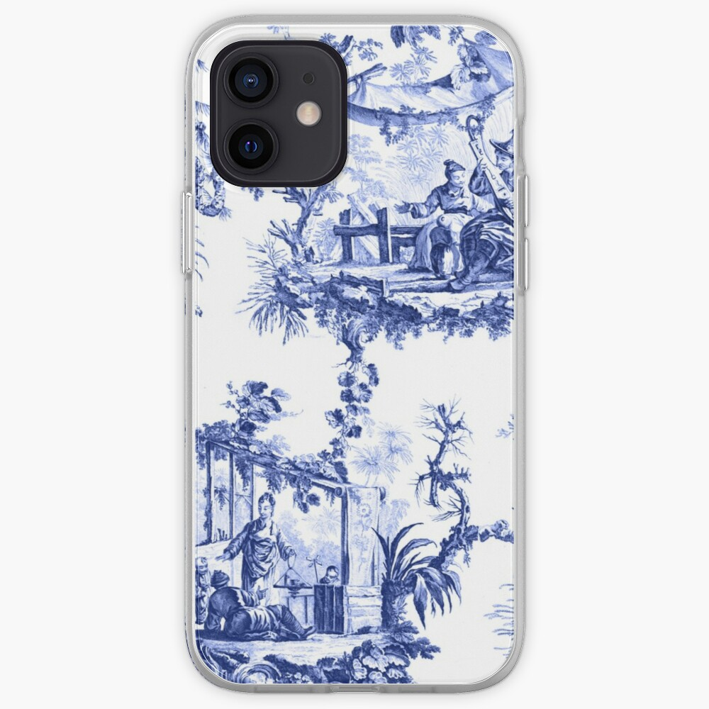 Blue Chinoiserie Toile iPhone Case & Cover