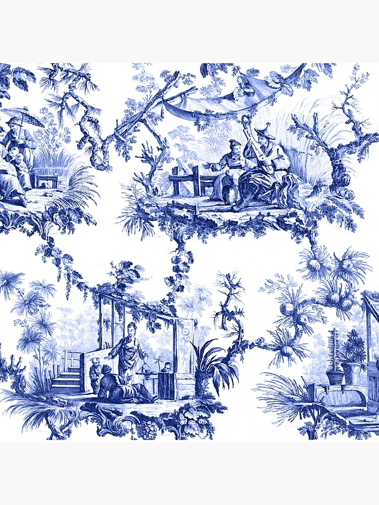 Blue Chinoiserie Toile by TheChinoiserie