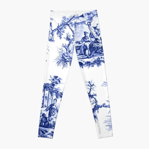 Blue Chinoiserie Toile Leggings