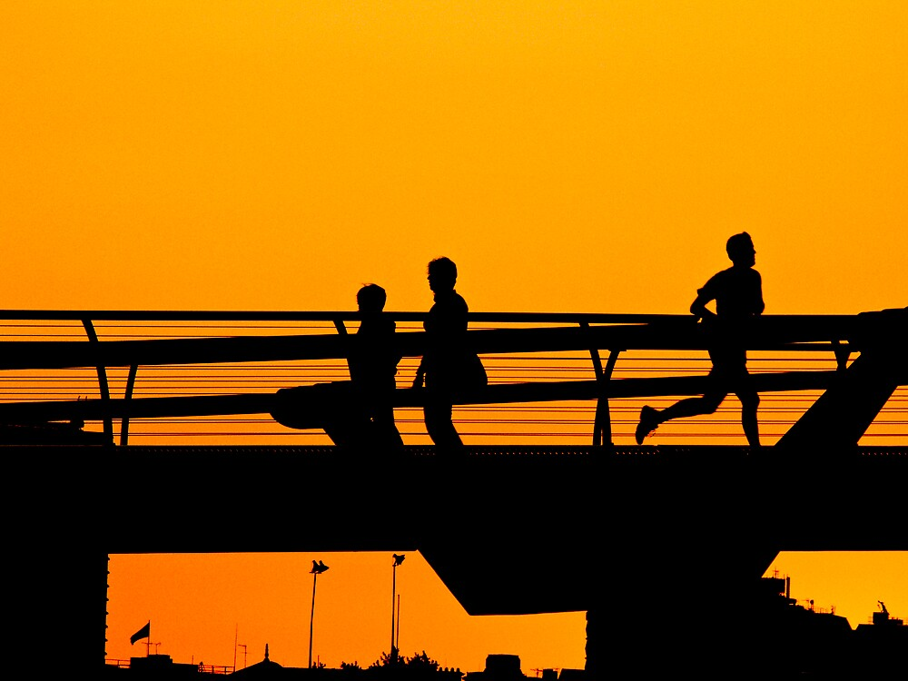 Jogger at sunset by thedefiance