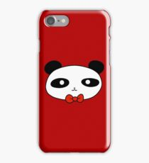 Bow Tie Panda Face iPhone Case/Skin