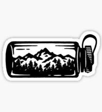 mountain water bottle Sticker