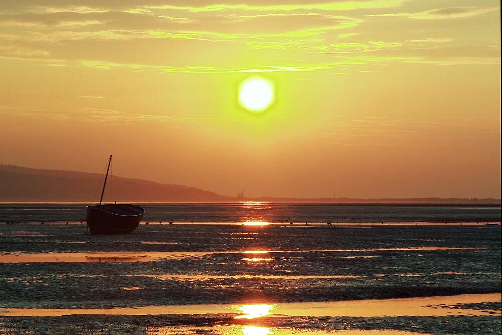 Sunset Boats 2 by Alan Hawkins
