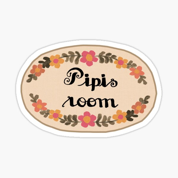 where's all the pipis? Sticker