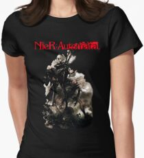 nier automata art cover Womens Fitted T-Shirt