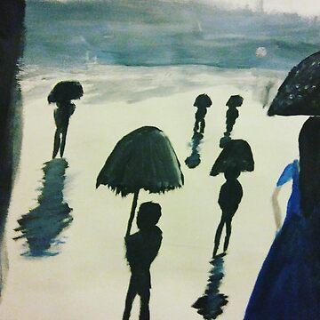 A Walk in the Rain by NatLopez