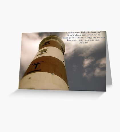 Let the Lower Lights Be Burning Greeting Card