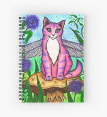 Dea Dragonfly Fairy Cat Spiral Notebook