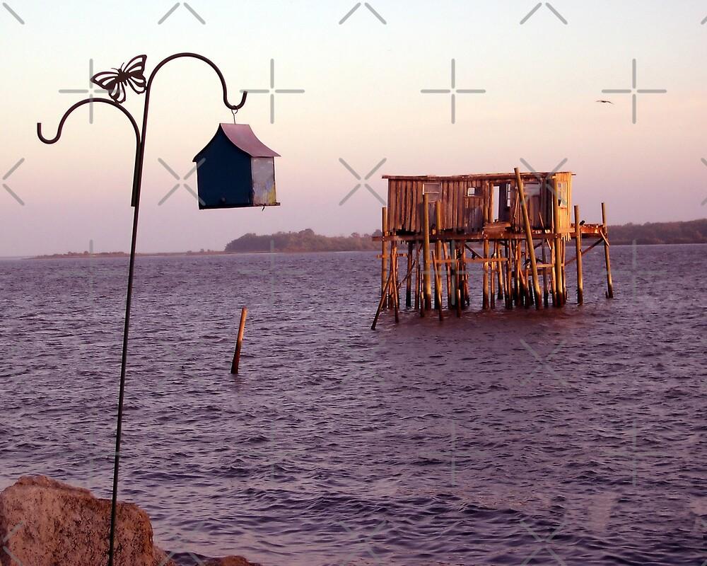 Cedar Key Fish House at Sunset by Stacey Lynn Payne