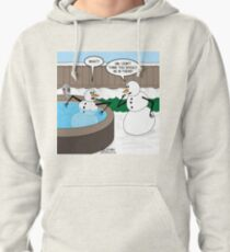Snowman in a Hot Tub Pullover Hoodie
