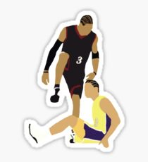 Allen Iverson Steps Over Tyronn Lue  Sticker