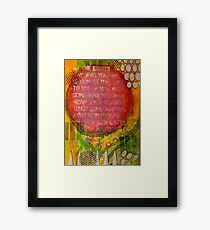 Floating Wisdom Framed Print
