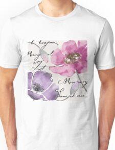 Fleurs de France Purple Unisex T-Shirt