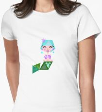 Mermaid Princess Womens Fitted T-Shirt